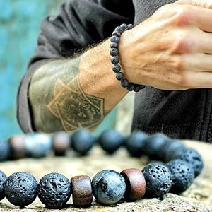 McIlroy Handmade Lava Stone Bracelet